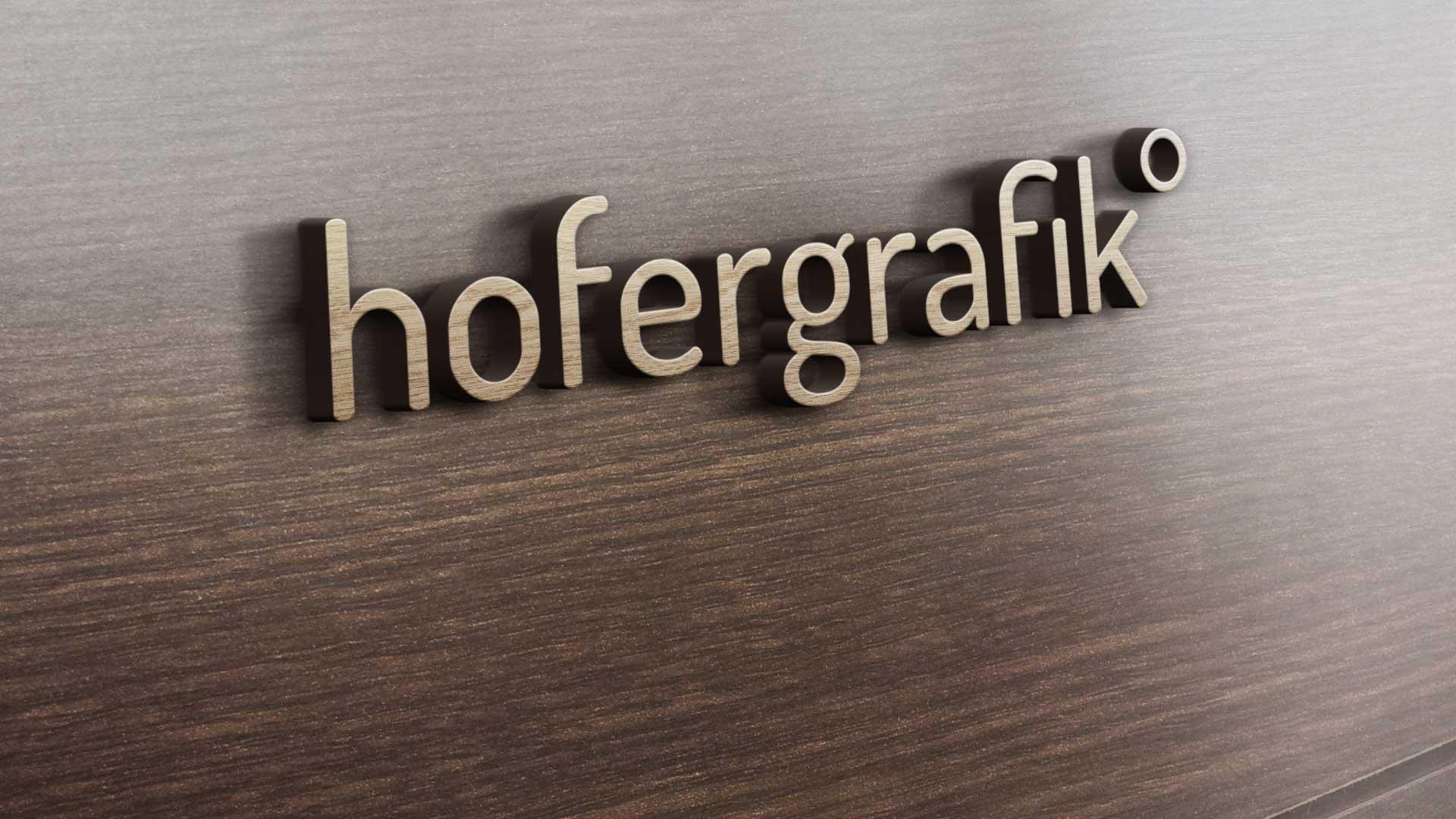 hofergrafik wooden sign
