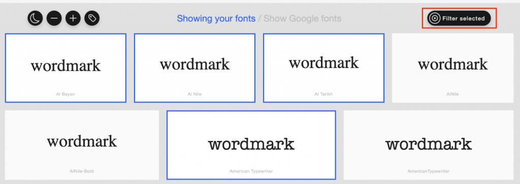 wordmark filter