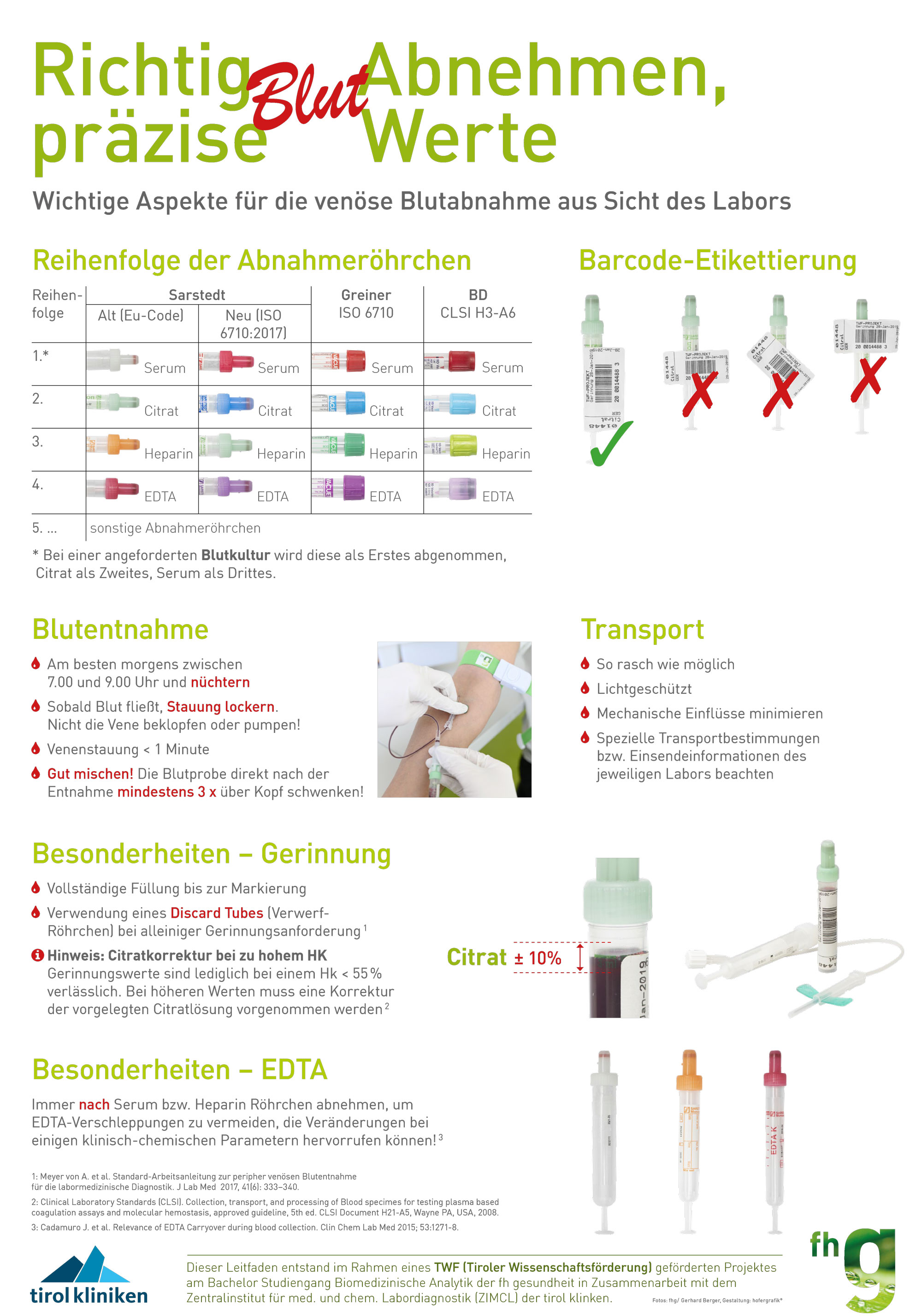 Plakat zum Thema Blut abnehmem